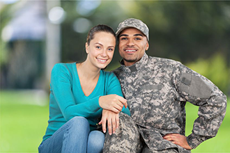 Military couple; armed services veteran